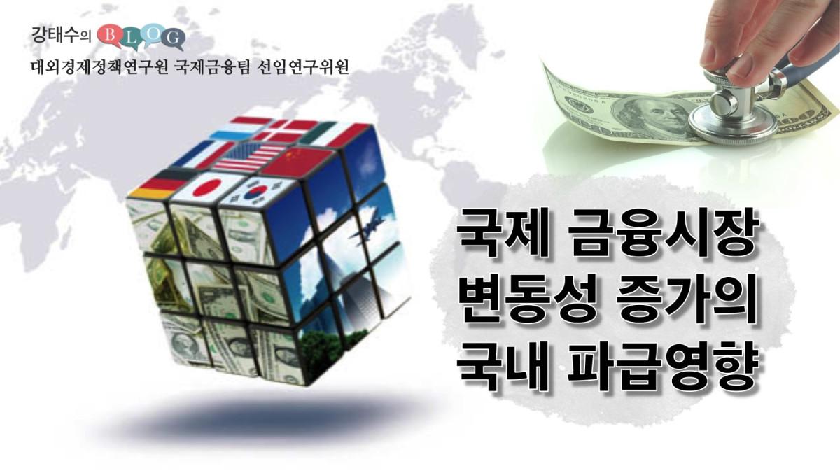 국제금융시장 변동성 증가의 국내파급영향